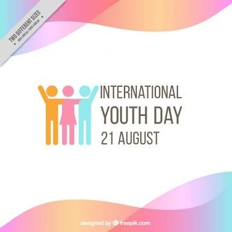 Fundo do dia da juventude com ondas
