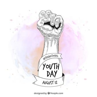 Fundo do dia da juventude