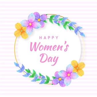 Fundo do dia da mulher floral
