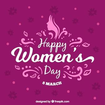 Fundo do dia da mulher roxa