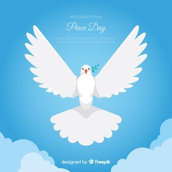 Fundo do dia da paz com pomba branca