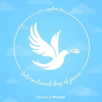 Fundo do dia da paz com pomba