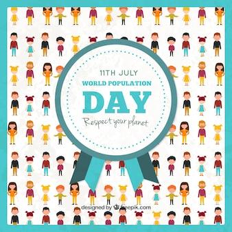 Fundo do dia da população agradável com as pessoas