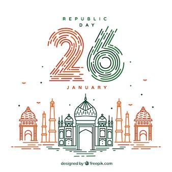 Fundo do dia da república da índia