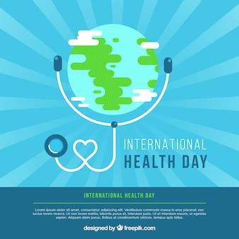 Fundo do dia da saúde mundial em estilo plano