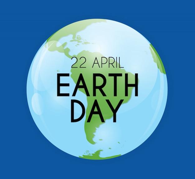 Fundo do dia da terra, abril, 22. ilustração