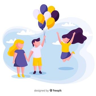 Fundo do dia das crianças dos amigos