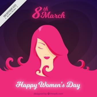 Fundo do dia das mulheres bonitas