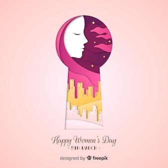 Fundo do dia das mulheres do buraco da fechadura