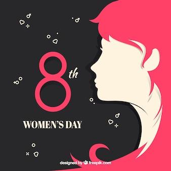 Fundo do dia das mulheres em design plano