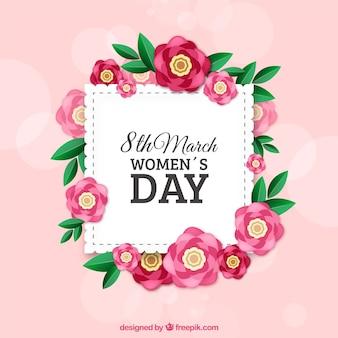 Fundo do dia das mulheres em estilo realista