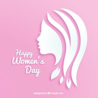 Fundo do dia das mulheres em papel