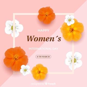 Fundo do dia das mulheres realistas