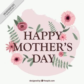 Fundo do dia de mãe floral com um respingo