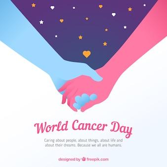 Fundo do dia do câncer mundial plano