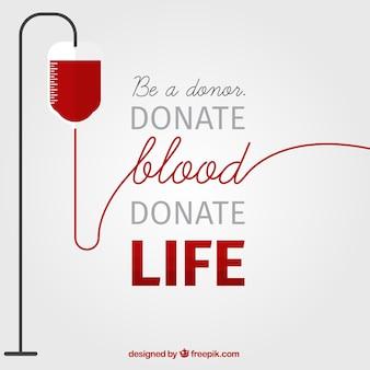 Fundo do dia do doador de sangue com uma frase