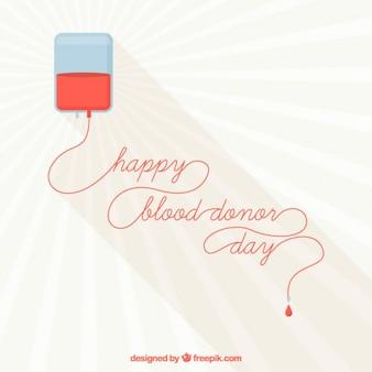 Fundo do dia do doador de sangue feliz