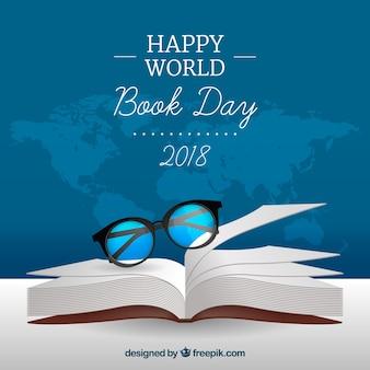 Fundo do dia do livro mundial em estilo realista