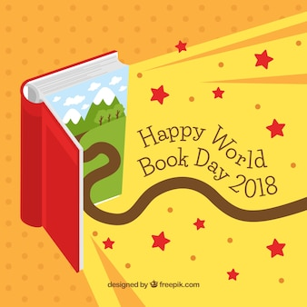 Fundo do dia do livro mundial