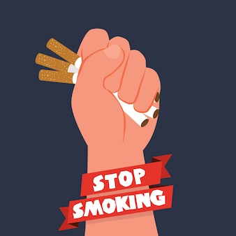 Fundo do dia do tabaco Anti