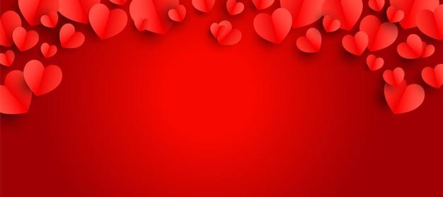 Fundo do dia dos namorados com corações