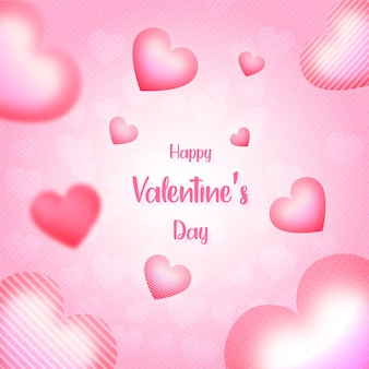 Fundo do dia dos namorados ou banner com corações fundo rosa