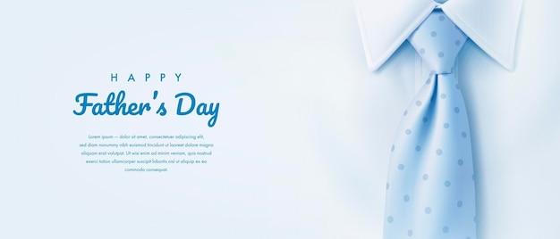 Fundo do dia dos pais com gravata azul