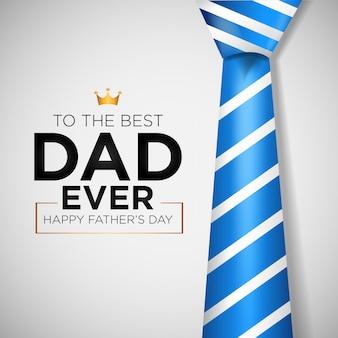 Fundo do dia dos pais feliz com gravata