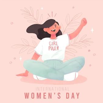 Fundo do dia internacional da mulher Vetor grátis