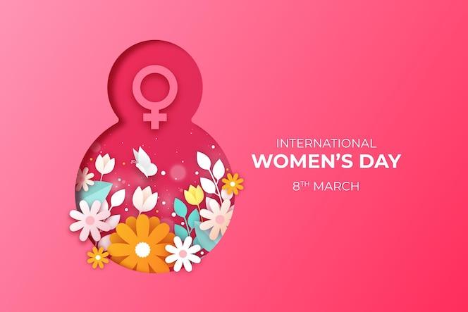 Fundo do dia internacional da mulher