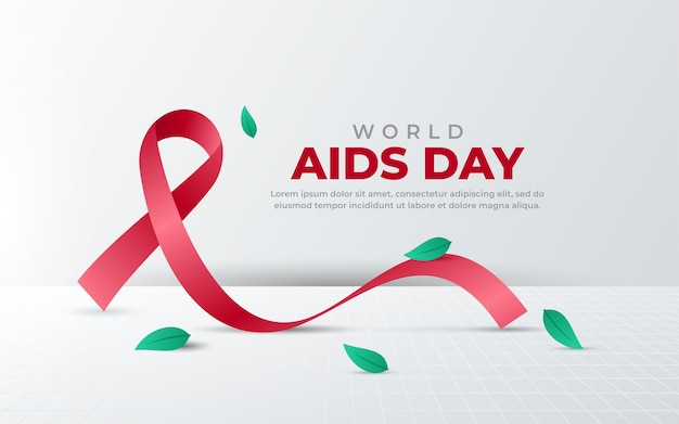 Fundo do dia mundial da aids
