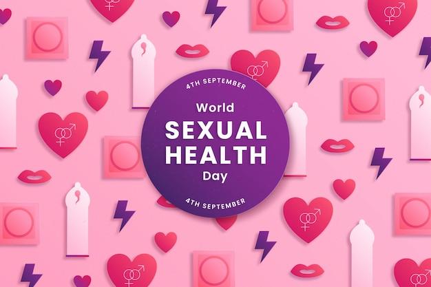 Fundo do dia mundial da saúde sexual em estilo de papel