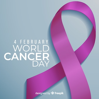Fundo do dia mundial do câncer realista