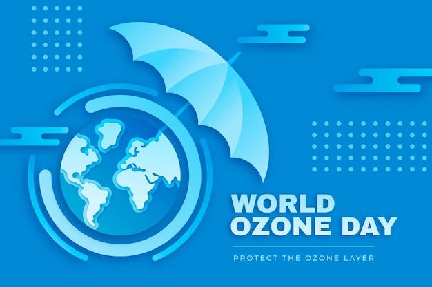 Fundo do dia mundial do ozônio em estilo papel