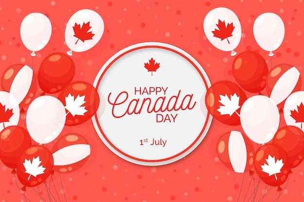 Fundo do dia nacional do canadá e balões