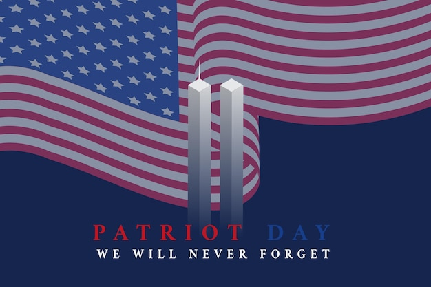 Fundo do dia patriota gradiente 9.11