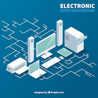 Fundo do dispositivo eletrônico