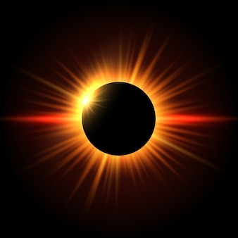 Fundo do eclipse solar