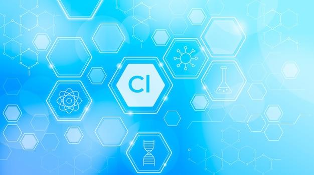 Fundo do elemento cloro