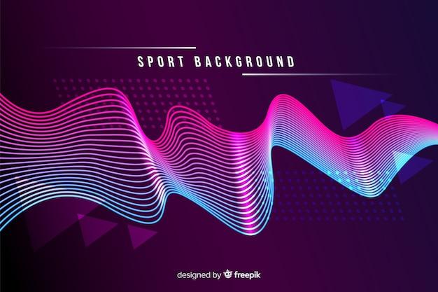 Fundo do esporte com formas abstratas