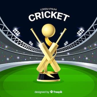 Fundo do estádio de críquete