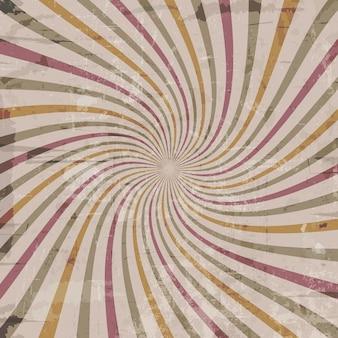 Fundo do estilo do vintage com efeito starburst