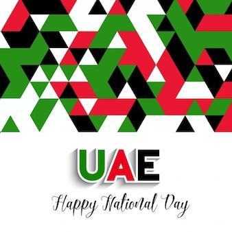 Fundo do estilo geométrico decorativo para a celebração do dia nacional dos uae