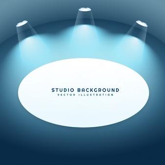 Fundo do estúdio com moldura