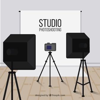 Fundo do estúdio fotográfico
