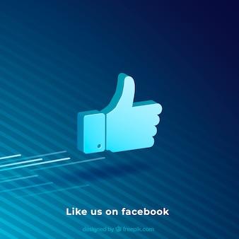 Fundo do facebook com gostos