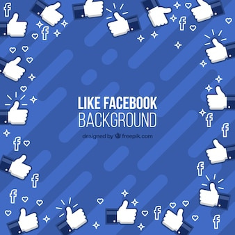 Fundo do facebook com ícones semelhantes