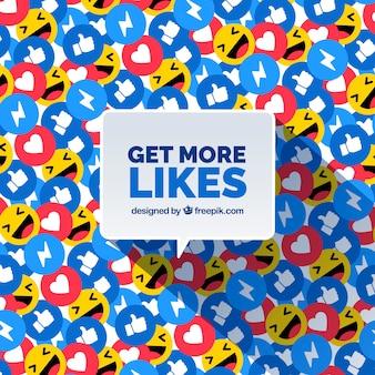 Fundo do facebook com muitos ícones