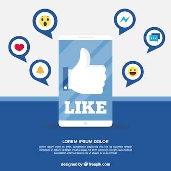 Fundo do facebook com o ícone como