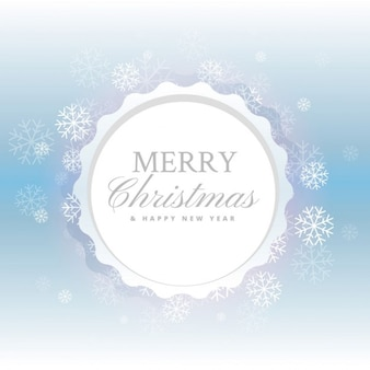 Fundo do feliz natal bonito com flocos de neve